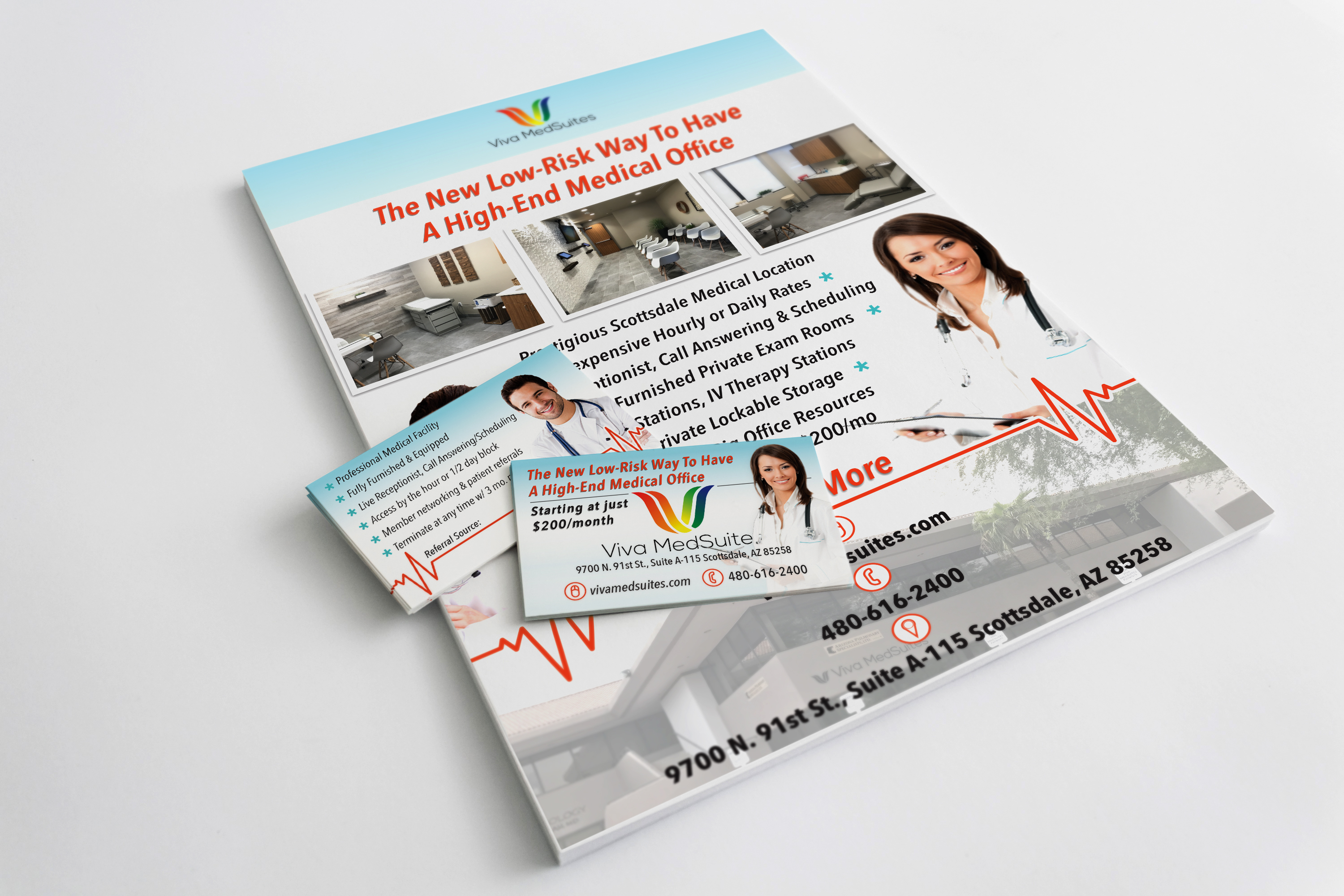 Viva MedSuites Cards and Flyer