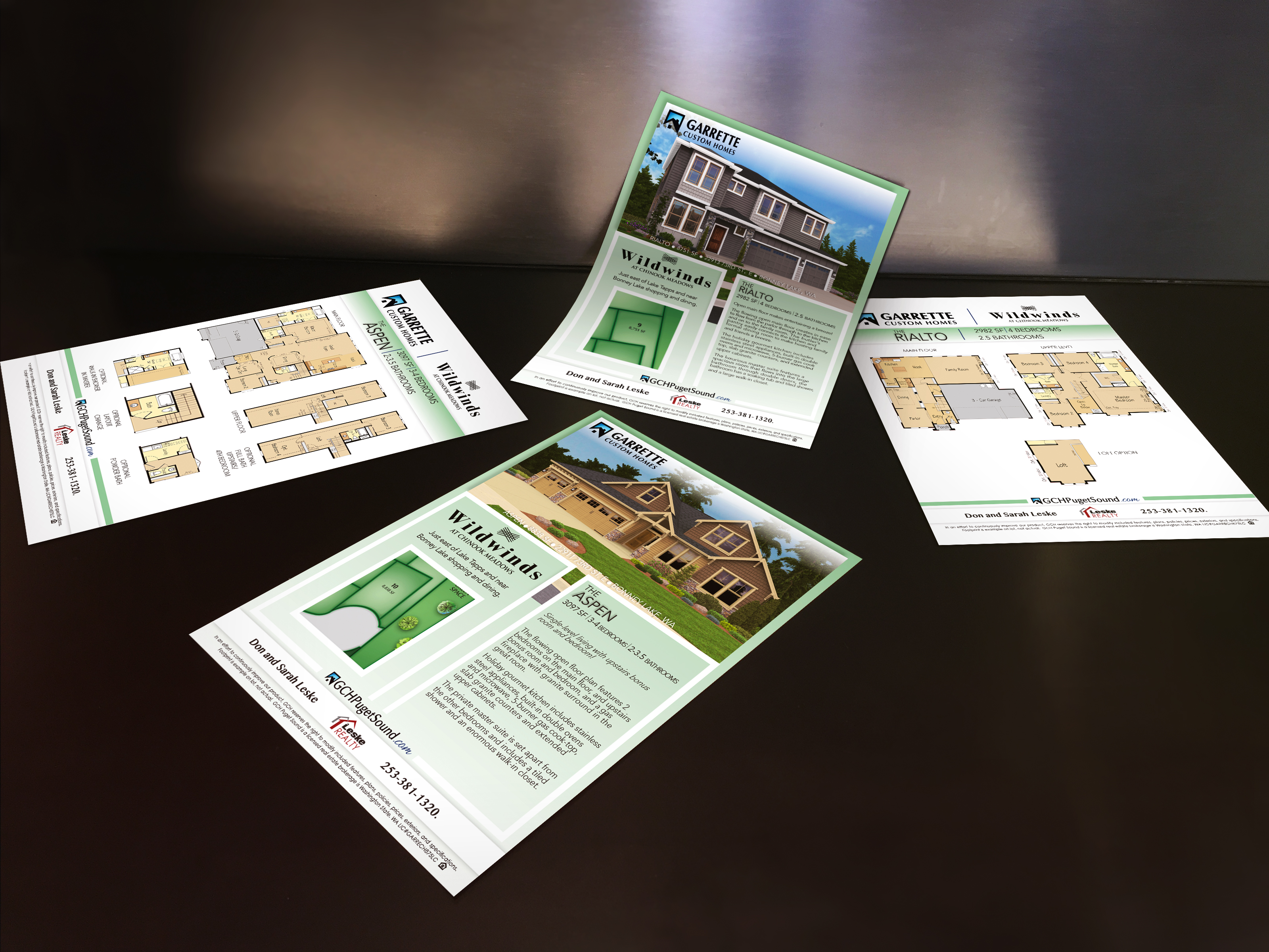 Garrette Custom Homes Lot Flyers