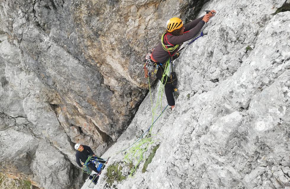 Beim Klettern sind wir in unserem Element