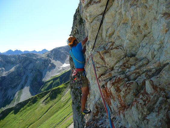 Klettern in der Schneck Ostwand