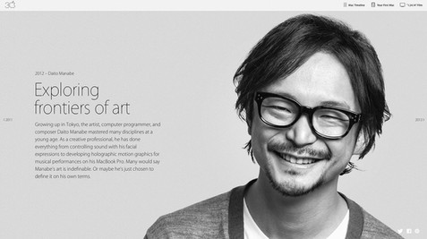 """Apple """"Thirty Years of Mac"""" 真鍋大度さん"""
