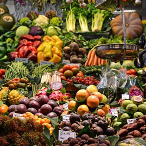O poder das cores dos alimentos