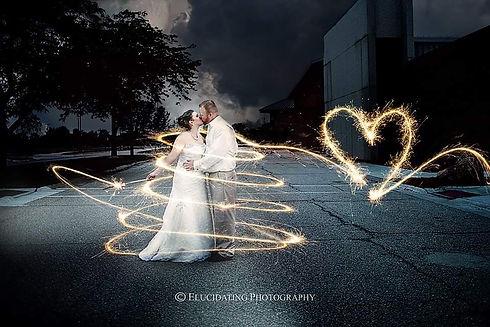 wedding sparkler composite portrait photography