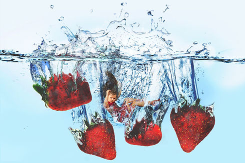 strawberry photography photoshop girl water composite valentines