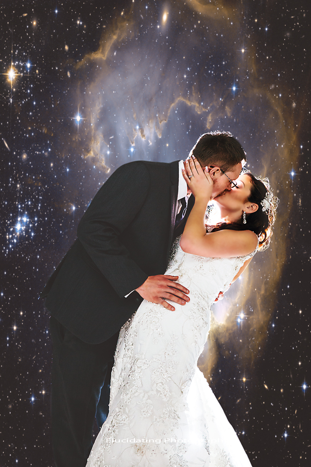 composite photo wedding