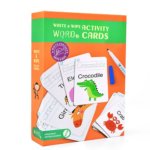 mideer Write & Wipe Cards - Words