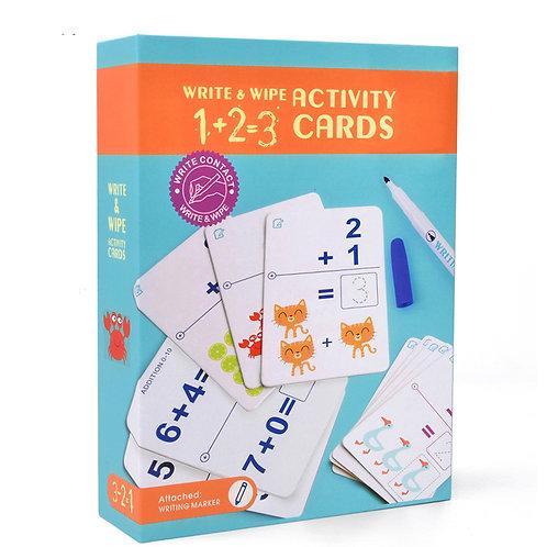 mideer Write & Wipe Cards - Math 1+2=3