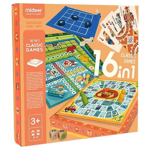 mideer Puzzle Classic Games - 16 in 1