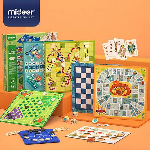 mideer Puzzle Classic Games - 32 in 1