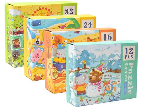 mideer Beginner 4 in 1 Puzzle - Seasons