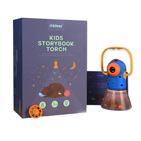 Mideer Kids Storybook Torch Colorful Flashlight Small Night Light Torch