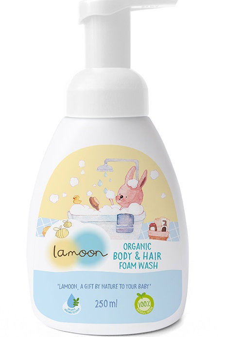 Lamoon Organic Body & Hair Foam Wash 2 in 1