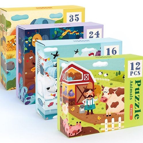mideer Beginner 4 in 1 Puzzle - Animals