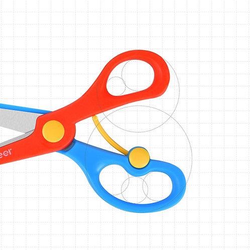 mideer Kids' Scissors - Red Blue