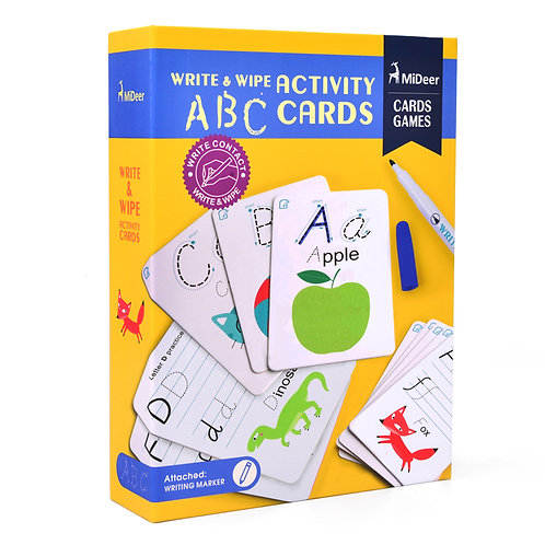mideer Write & Wipe Cards - ABC Alphabet