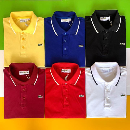 LACOSTE Strip Polo Shirt