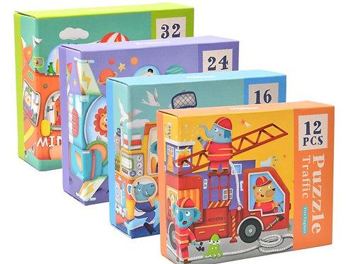 mideer Beginner 4 in 1 Puzzle - Happy Traffic