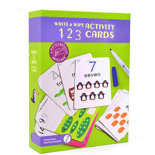 mideer Write & Wipe Cards - 123