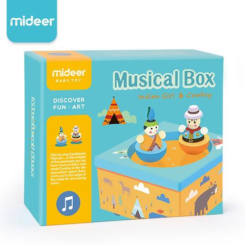 mideer Musical Box - Indian Girl & Cowboy