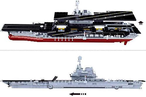 Sluban M38-B0698 Model Bricks-002 Aircraft Carrier 1636Pcs
