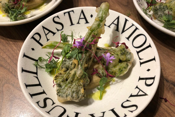 The Cheshire Dining Experience | Fine Dining and Corporate Catering | Tempura Broccoli plating