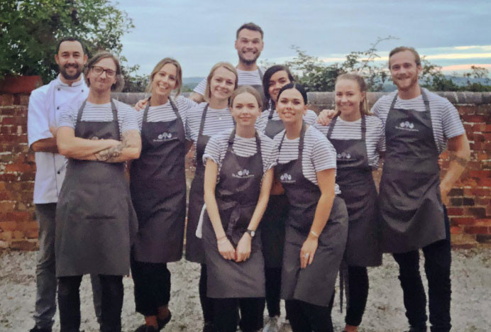 Cheshire Dining Experience   Whole Team Photo