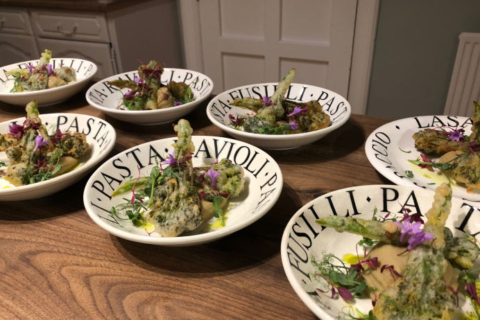 The Cheshire Dining Experience | Outside Catering Cheshire | Tempura Broccoli Plates