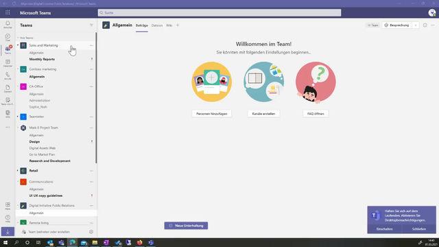 Wie behalte ich in Microsoft Teams den Überblick?