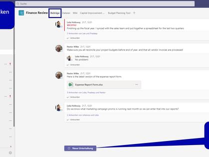 MS Teams - was ist der Unterschied zwischen dem Kanalchat und dem Chat auf der linken Seitenleiste?