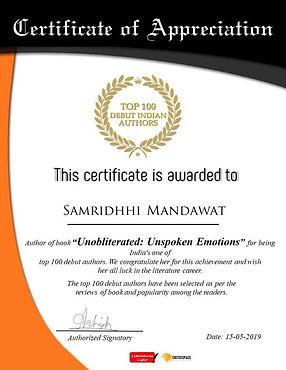 Samridhhi Mandawat, Author, India