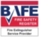 BAFE Fire Extinguisher Service Provider Logo Warrenpoint