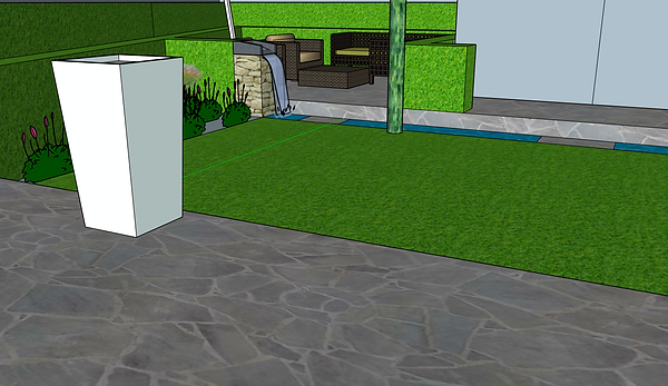 3d software, CAD, sketchup, includes paving, modern design, high quailty planting, low maintenance - High quality landscape garden design and landscape gardeners covering, Abergavenny, Crickhowell, Monmouth, Monmouthshire, Brecon, Herefordshire and Cardiff