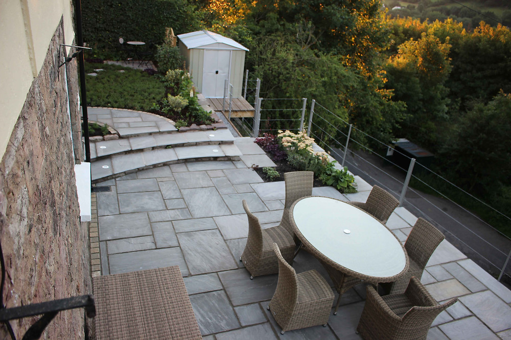 landscape garden design - plot after
