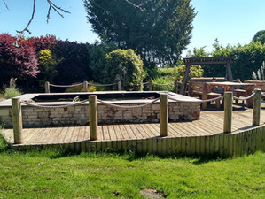 Pond and decking