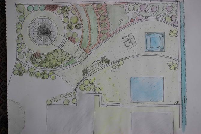 Miami style garden design