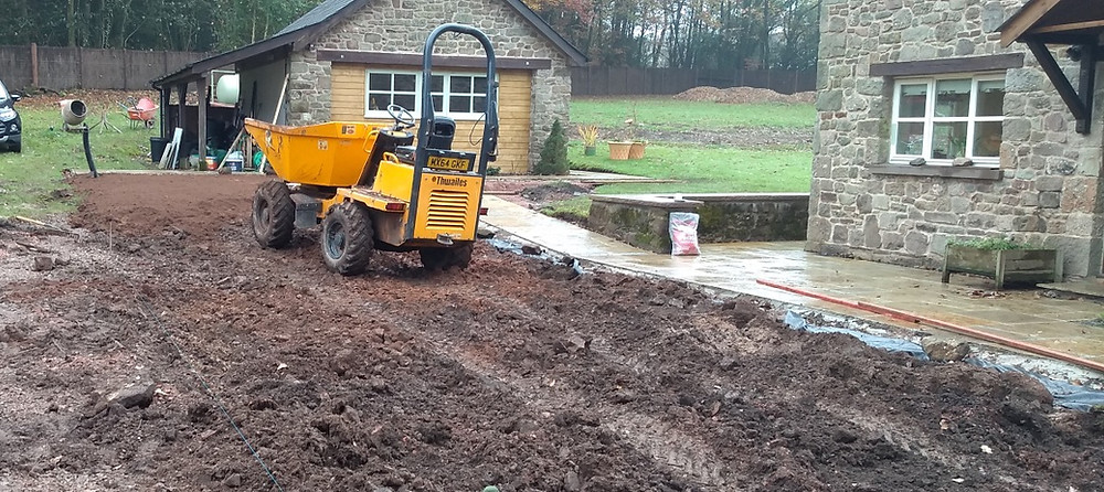 topsoil, turf, grass, lawn, groundwork, landscaping, Monmouth