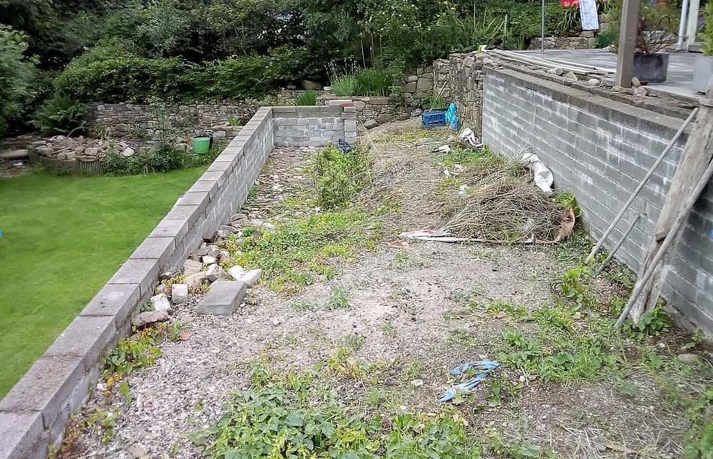 overgrown garden, groundworks, garden ideas