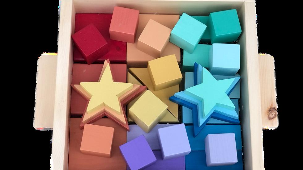 Rainbow Set with Stars