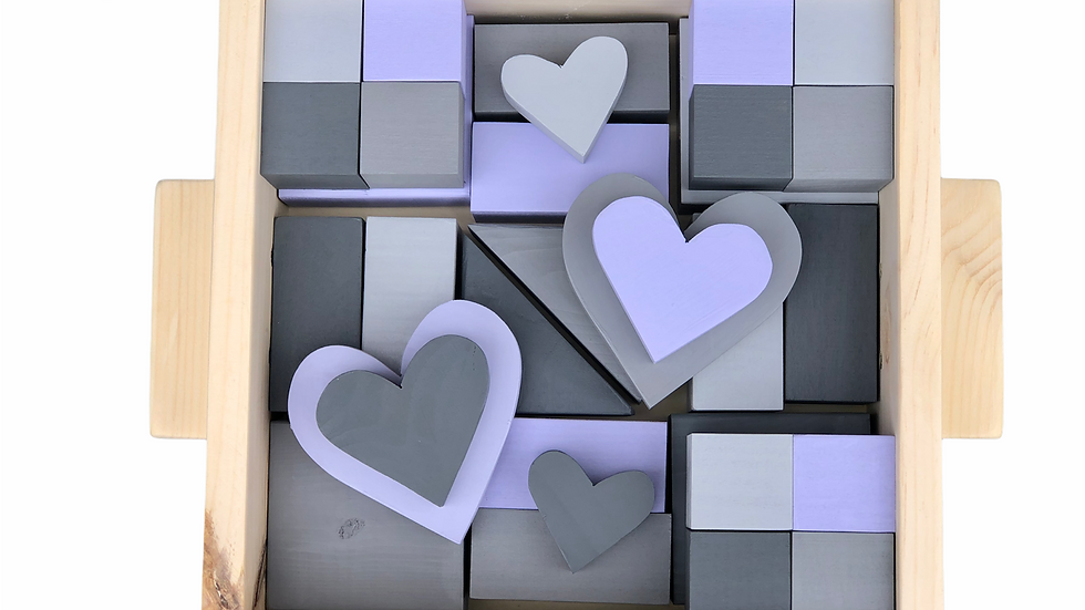 Lilac & Grey Block Set
