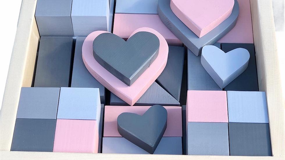 Pink & Grey Ombré Block Set