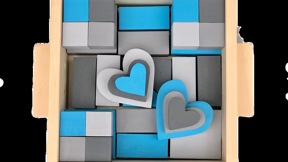 Medium Blue & Grey Block Set