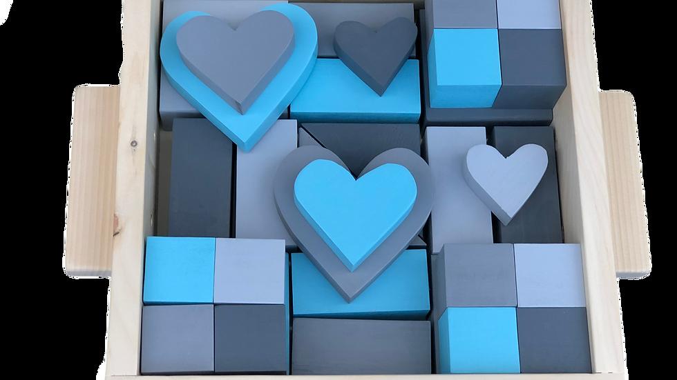 Light Blue & Grey Block Set
