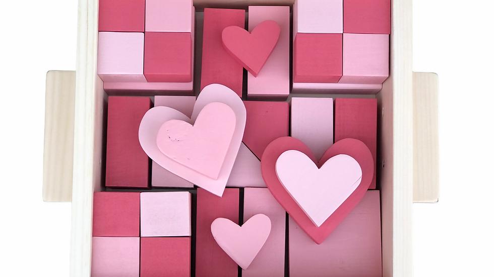 Pieces of my Heart Ombré Block Set