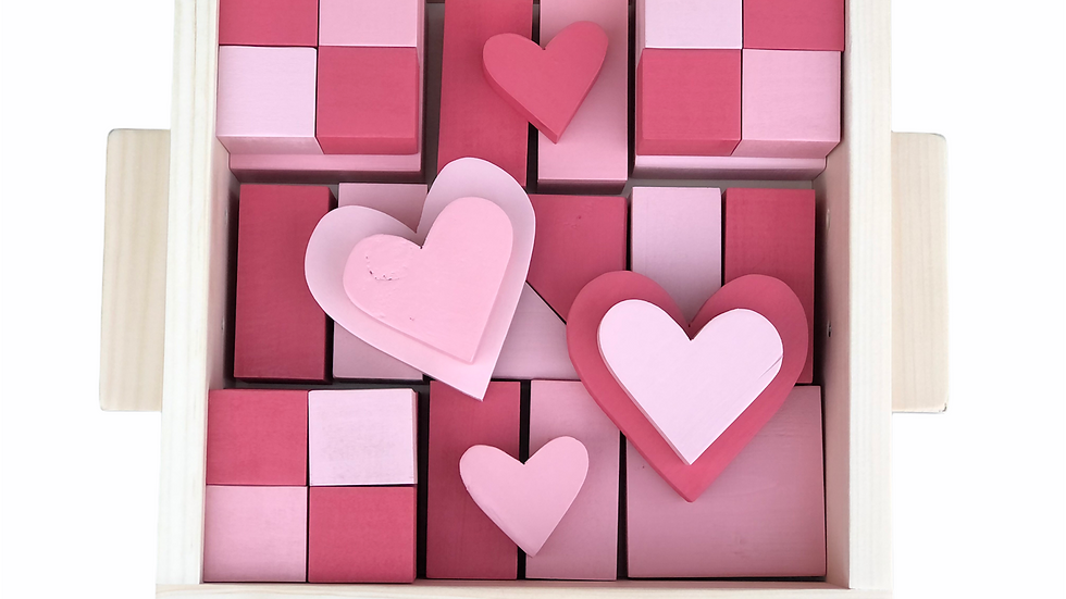Pieces of my Heart Ombré Block Set