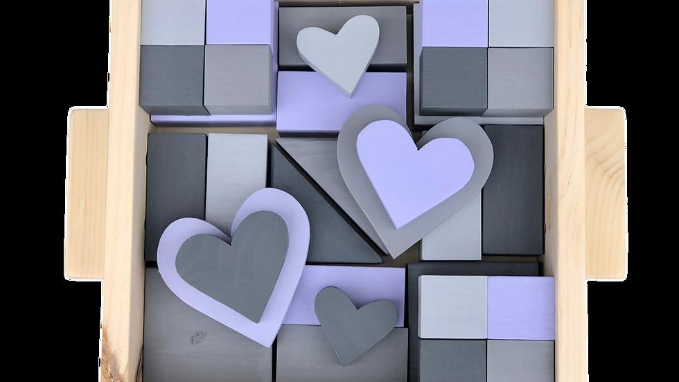 Lilac & Grey Block Set