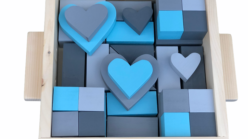 Light Blue & Grey Block Set