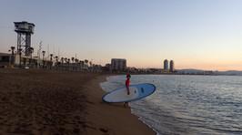 SUP at Sunrise Barcelona