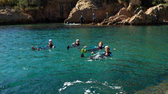 Relax time while coasteering at beautifu