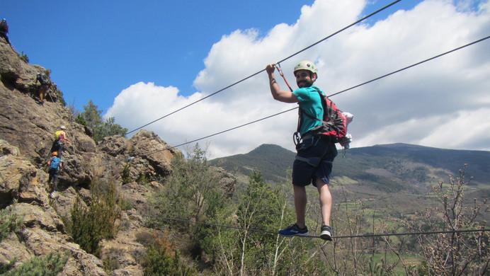 Cable bridge via ferrata Roca de la Creu