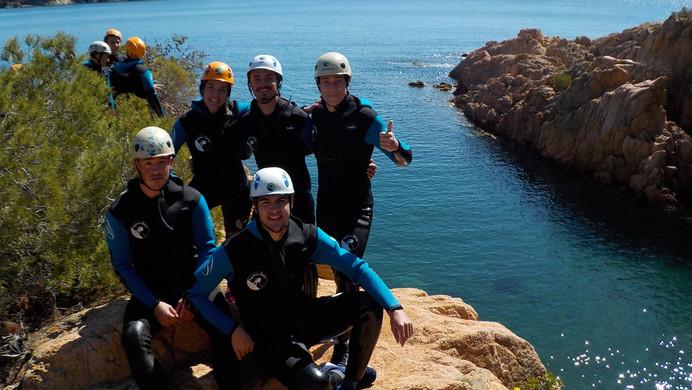 Group pic - coasteering in Costa Brava